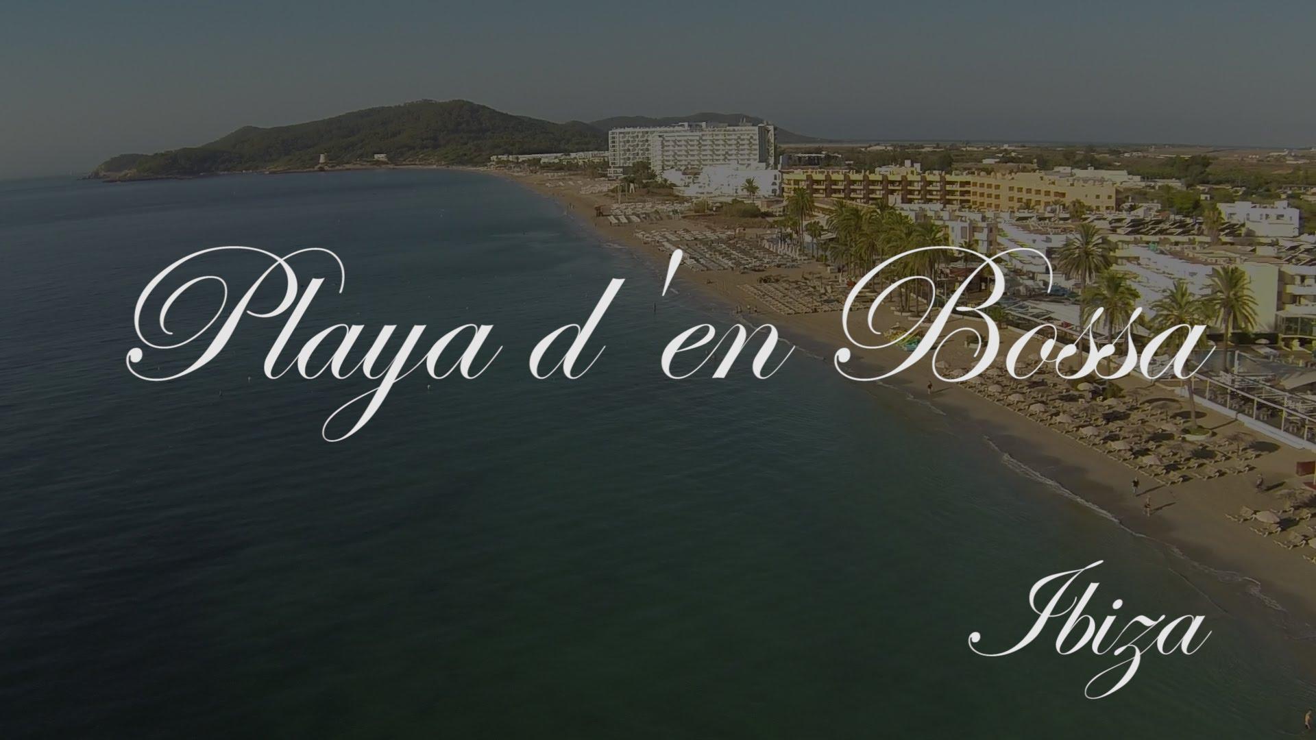 La Playa d'en Bossa vista desde el aire