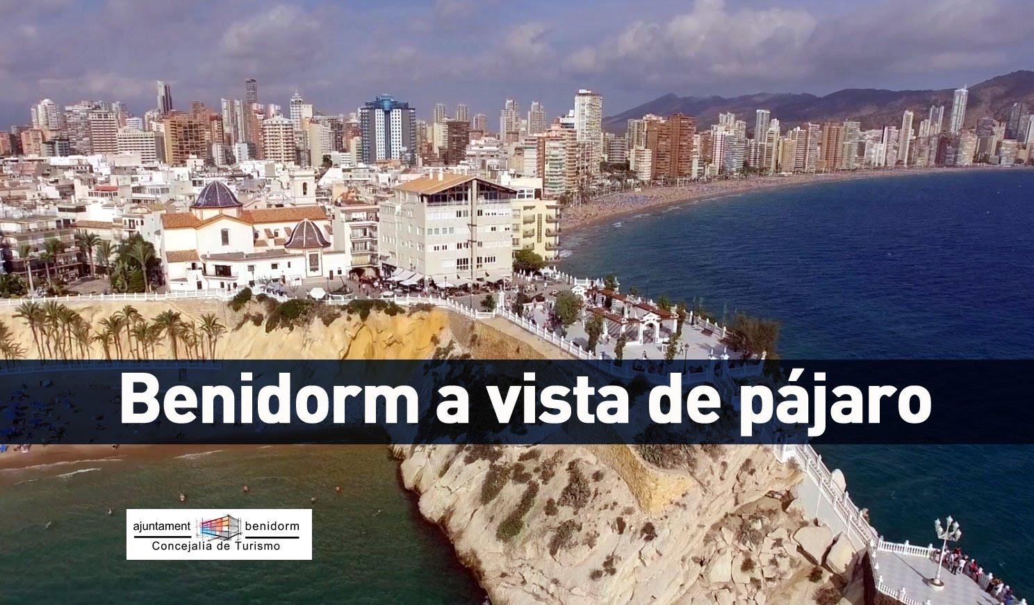 Visita aérea a Benidorm en Alicante