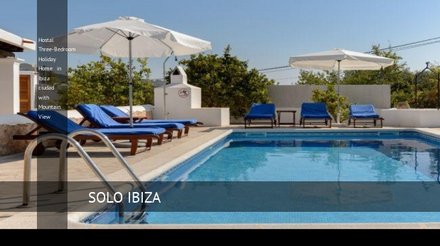 Hostal Three-Bedroom Holiday Home in Ibiza ciudad with Mountain View, opiniones y reserva