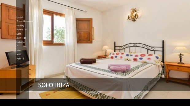 Hostal Three-Bedroom Holiday Home in Sant Joan de Labritja / San Juan with Pool II, opiniones y reserva